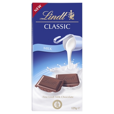 Lindt Classic Recipe Milk Block 125g