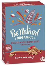 Be Natural Organics Golden Whole Grain Bites Cinnamon 460g