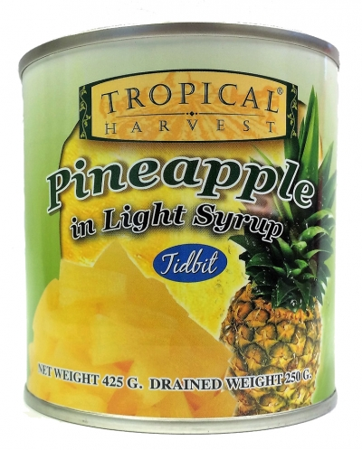 Tropical Harvest Pineapple Tidbits in Light Syrup 425g