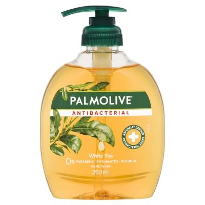 Palmolive Liquid Hand Wash Antibacterial White Tea Pump 250ml