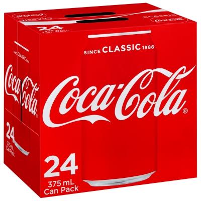 Coca-Cola 24 x 375ml Cans