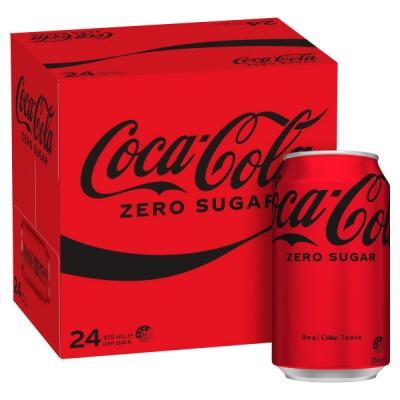 Coca-Cola No Sugar 24 x 375ml Cans