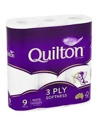 Quilton Toilet Rolls White 3 Ply 9 Pack