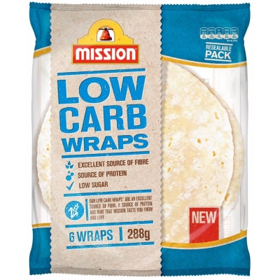 Mission Wraps Low Carb 6 Pack 288g