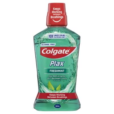 Colgate Plax Mouthwash Freshmint Alcohol Free 500ml
